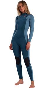 2021 Billabong Womens Synergy 5/4mm Chest Zip Wetsuit W45G51 - Blue Seas
