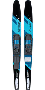 2021 Connelly Quantum Slide-Type Adjustable Combo Waterskis 61200342 - Black / Blue