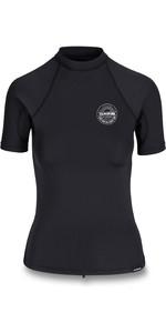 2020 Dakine Womens Flow Snug Fit Short Sleeve Rash Vest D10002332 - Black