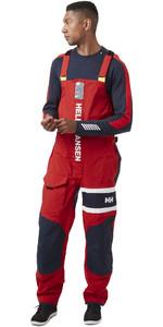 2021 Helly Hansen Mens Salt Coastal Bib 30204 - Alert Red