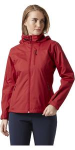 2021 Helly Hansen Womens Hooded Crew Midlayer Jacket 33891 - Red