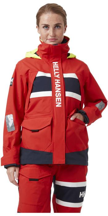 2021 Helly Hansen Womens Salt Coastal Jacket 30344 - Alert Red