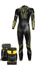 2021 Huub Mens Varman Wetsuit + Transition Bag VAR35F - Fluo Yellow