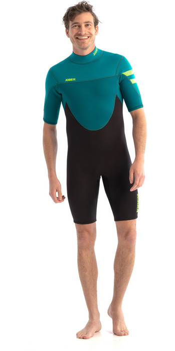 2021 Jobe Mens Perth 3/2mm Shorty Wetsuit 303621009 - Teal