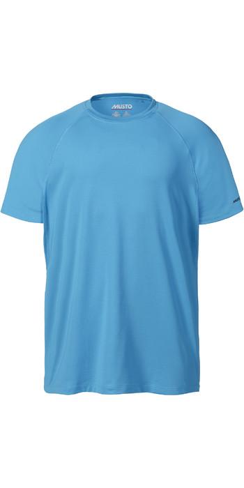 2021 Musto Mens Evo Sunblock Short Sleeve Tee 2.0 81154 - True Navy