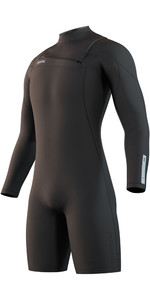 2021 Mystic Mens Marshall 3/2mm Long Sleeve Shorty Wetsuit 210112 - Black