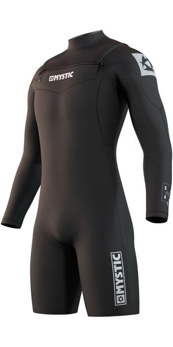 2021 Mystic Mens Star 3/2mm Long Sleeve Shorty Wetsuit 210308 - Black