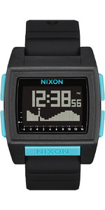 2021 Nixon Base Tide Pro Surf Watch A1307 - All Black / Blue