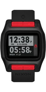 2021 Nixon High Tide Surf Watch 001-00 - Red / Black
