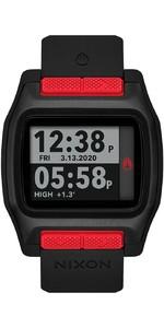 2021 Nixon High Tide Surf Watch 001-00 - Red / Black