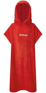 2021 Northcore Kids Beach Basha Change Robe / Poncho NOCO24 - Red
