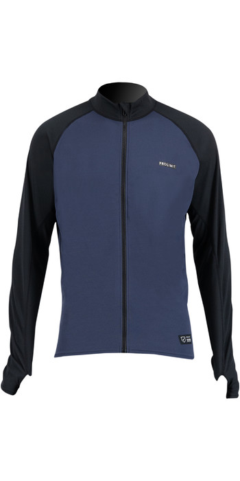 2021 Prolimit Mens Quick Dry Long Sleeve SUP Top 14430 - Slate / Black