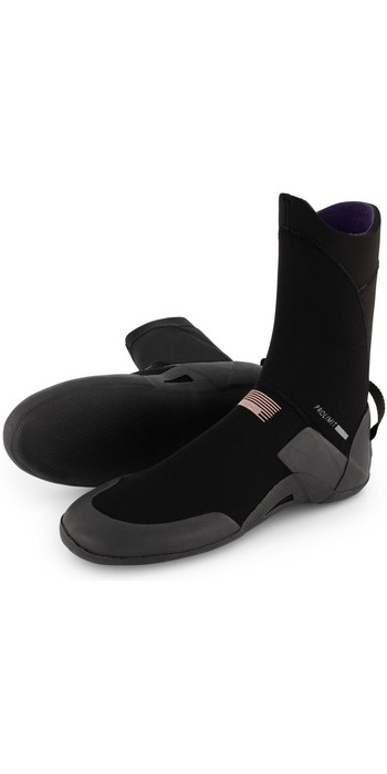 2021 Prolimit Womens Pure 5.5mm Round Toe Wetsuit Boot 10500 - Black