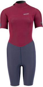2021 Prolimit Womens Edge 2mm Shorty Wetsuit 18140 - Navy / Wine