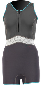 2021 Prolimit Womens Fire 2mm Sleeveless Shorty Wetsuit 15090 - Black / Ivory