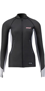 2021 Prolimit Womens 1.5mm Loose Fit Splash Wetsuit SUP Top 14710 - Black / Grey