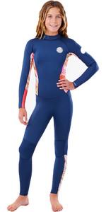 2021 Rip Curl Girl Junior Dawn Patrol 3/2mm Back Zip Wetsuit WSM8EJ - Pink