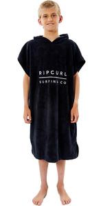 2021 Rip Curl Junior Hooded Towel / Poncho KTWAH9 - Black