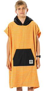 2021 Rip Curl Junior Boys Surf Sock Hooded Towel / Change Robe KTWAS9 - Orange