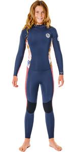 2021 Rip Curl Junior Girls Dawn Patrol 5/3mm Back Zip Wetsuit WSMYCS - Slate Rose