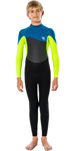 2021 Rip Curl Junior Omega 3/2mm GBS Back Zip Wetsuit WSM9QB - Neon Lime