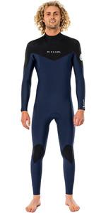 2021 Rip Curl Mens Dawn Patrol Warmth 4/3mm Back Zip Wetsuit WSM9EM - Navy