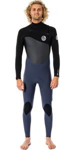 2021 Rip Curl Mens Flashbomb 4/3mm Chest Zip Wetsuit WSTYNF - Slate