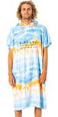 2021 Rip Curl Mix Up Print Change Robe / Hooded Towel CTWBG9 - Blue / White
