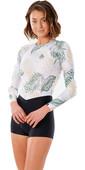2021 Rip Curl Womens Coastal Palms Long Sleeve Boyleg Surf Suit WLY3KW - White