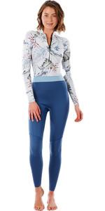 2021 Rip Curl Womens G-Bomb 2mm Front Zip Wetsuit WSM3HS - Slate Blue