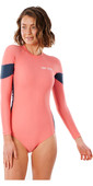 2021 Rip Curl Womens Golden State Long Sleeve Surf Suit WLU3FW - Hot Coral