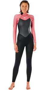 2021 Rip Curl Womens Omega 4/3mm Back Zip Wetsuit WSM9CW - Dusty Rose