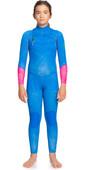 2021 Roxy Girls Pop Surf 3/2mm Chest Zip GBS Wetsuit ERGW103036 - Princess Blue / Beetroot Purple