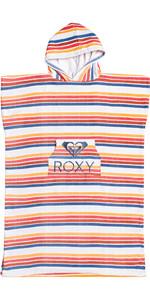 2021 Roxy Girls Stay Magical Printed Change Robe / Poncho ERGAA03121 - Bright White / Confi Stripe