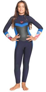 2021 Roxy Girls Syncro 4/3mm Back Zip GBS Wetsuit ERGW103044 - Navy Nights / Yacht Blue