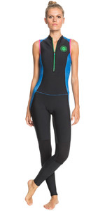 2021 Roxy Womens Pop Surf 1.5mm Long Jane Wetsuit ERJW703004 - Black / Princess Blue