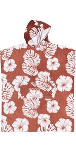 2021 Roxy Womens Stay Magical Printed Change Robe / Poncho ERJAA03827 - Marsala / Isha