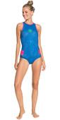 2021 Roxy Womens Pop Surf 1mm Racer Back Shorty Wetsuit ERJW603017 - Princess Blue / Beetroot Purple