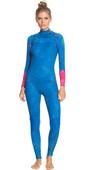 2021 Roxy Womens Pop Surf 3/2mm Chest Zip GBS Wetsuit ERJW103064 - Princess Blue / Beetroot Purple