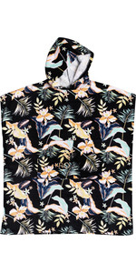 2021 Roxy Womens Stay Magical Printed Change Robe / Poncho ERJAA03827 - Anthracite / Praslin