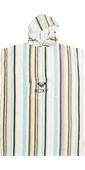 2021 Roxy Womens Stay Magical Printed Change Robe / Poncho ERJAA03827 - Bright White / Kamuela Stripe