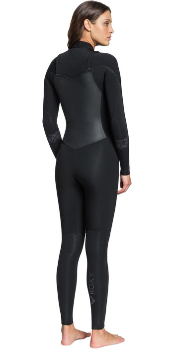 2021 Roxy Womens Syncro 3/2mm Chest Zip GBS Wetsuit ERJW103053 - Black / Jet