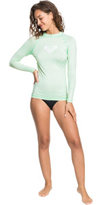 2021 Roxy Womens Whole Hearted Long Sleeve Rash Vest ERJWR03408 - Brook Green
