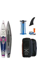 2021 STX Touring Pure 14'0 Inflatable Stand Up Paddle Board Package - Board, Bag, Pump & Leash - Purple / Blue