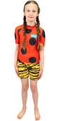 2021 Saltskin Junior Short Sleeve Rash Vest STSKNLADYBD04 - Ladybird