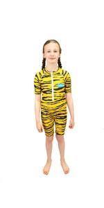 2021 Saltskin Junior Sun Suit STSKNTGR03- Tiger