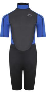 2021 Typhoon Junior Storm3 3/2mm Back Zip Shorty Wetsuit 25093 - Black / Nite Blue