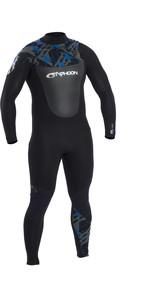 2021 Typhoon Mens Vortex 3mm Chest Zip Wetsuit 250741 - Black / Rich Blue