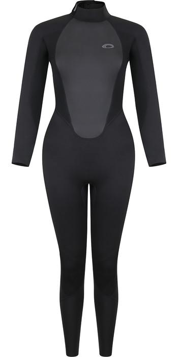 2021 Typhoon Womens Storm3 3/2mm Back Zip Wetsuit 250884 - Black