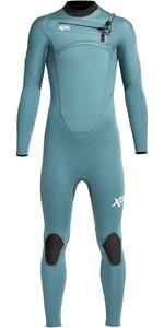 2021 Xcel Junior Comp 4/3mm Chest Zip Wetsuit KN43ZX - Tinfoil